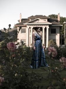 rose garden woman
